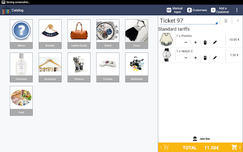 Pastèque, point of sales app- screenshot thumbnail