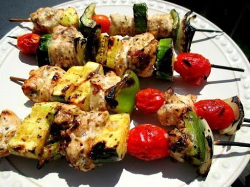 """Succulent Herbed Chicken Kabobs """"What can I say, other than YUMMY! We..."""