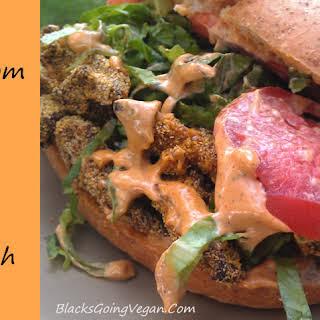 New Orleans Style Vegan Po' Boy Sandwich.