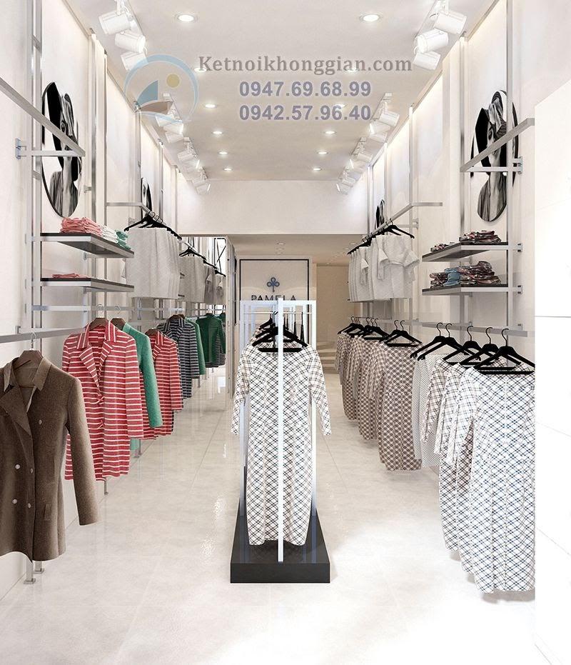 thiết kế shop thời trang Pamela 341 Cầu Giấy đẹp và sang trọng