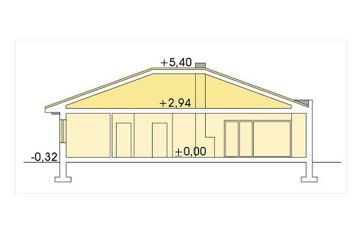 Alabama 3 wersja B bez garażu - Przekrój