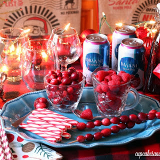 Easy Sparkling Holiday Drink Bar.