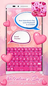 Valentine's Day Love Keyboard screenshot 0