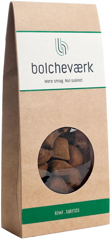 Sockerfri syrlig kiwi & salmiaklakrits - Bolcheværk - sockerfri karamell