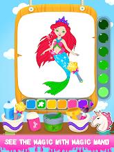 Princess Color Book Paint Art screenshot thumbnail