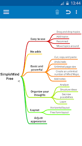 SimpleMind Free mind mapping screenshot 1