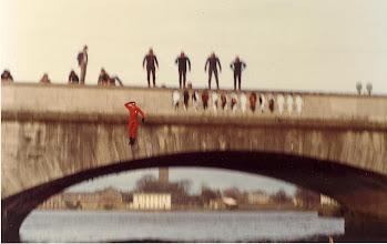Photo: Post Raft Race exuberance off Sarsfield Bridge