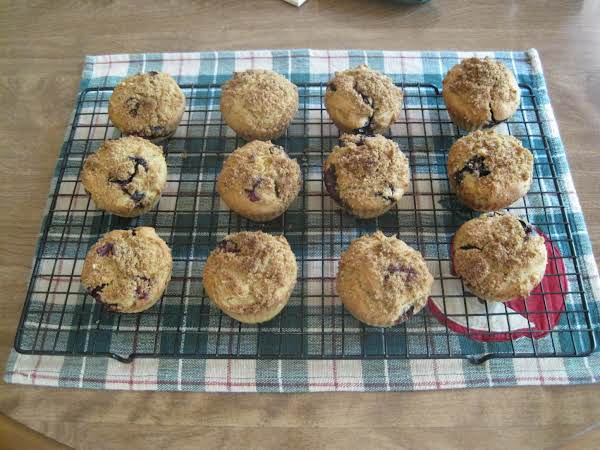 Blueberry Crumble Top Muffins           Gluten Free