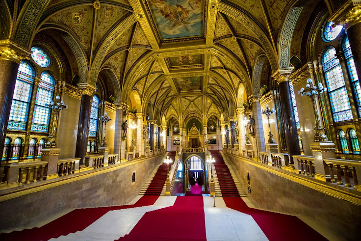 The Grand Staircase inside Parliament.  Photo: Tom Bartel.