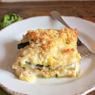 Grilled Zucchini Double Cheese Tuna Bake.