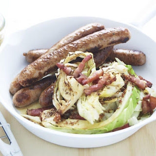 Bratwurst with Cabbage and Pancetta