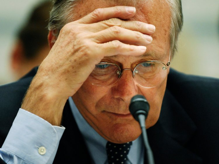 Former U.S. Defense Secretary Donald Rumsfeld in 2007. Picture: REUTERS