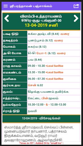 Tamil Calendar- Panchangam (தமிழ் பஞ்சாங்கம்