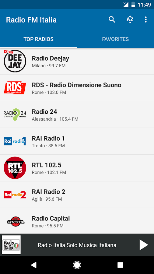 Radio FM Italia (Italy)- screenshot