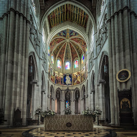 Almudena Cathedral  by Ole Steffensen - Buildings & Architecture Places of Worship ( interior, altar, madrid, spain, almudena cathedral )