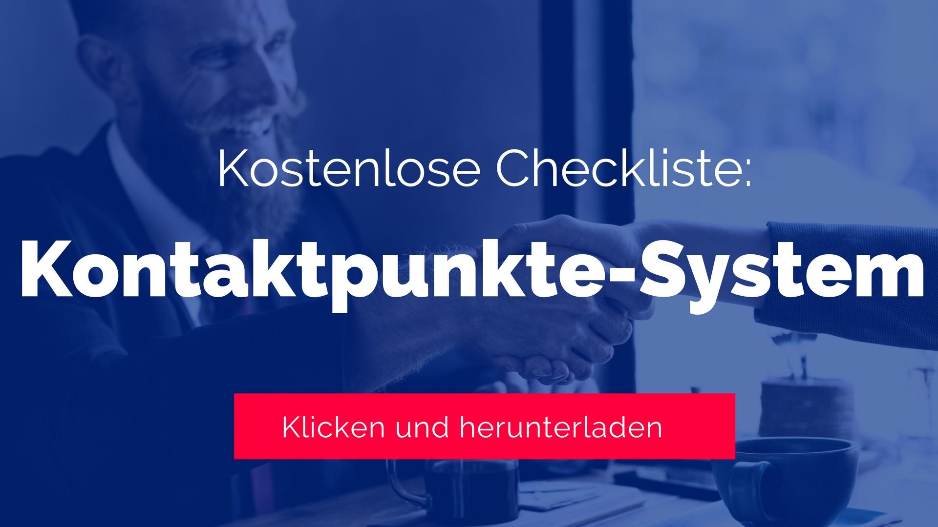 Checkliste Kontaktpunkte-System