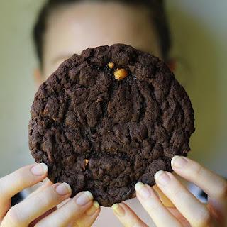 Giant Chocolate Peanut Brittle Cookies