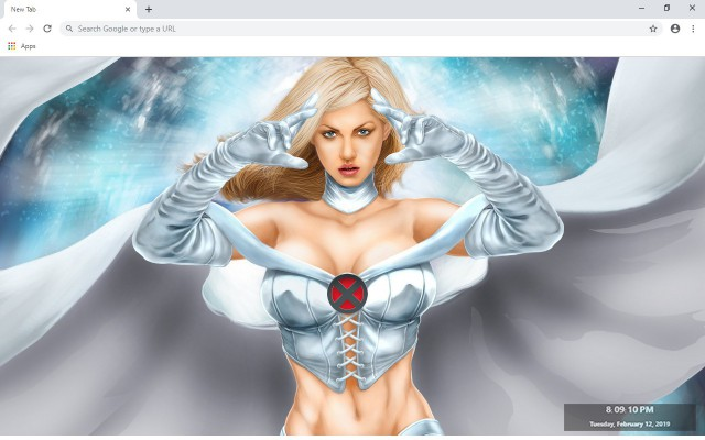 Emma Frost New Tab & Wallpapers Collection