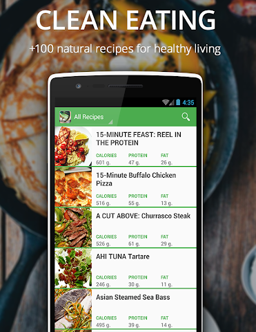 android Healthy Recipes Fitness Muscle Screenshot 1