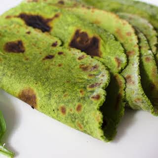 Homemade Gluten Free Spinach Tortilla.