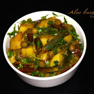 Aloo Baingan Fry-Alugadda Vankaya Vepudu Recipe
