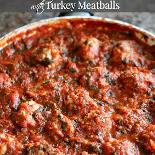 Hearty Spinach Marinara with Turkey Meatballs
