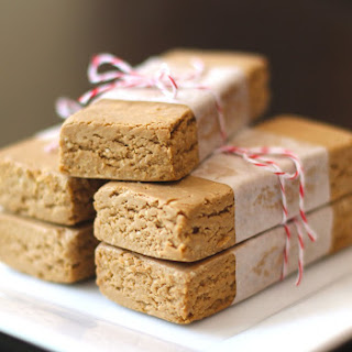 Healthy Homemade Peanut Butter Fudge Protein Bars (sugar free, gluten free, vegan).