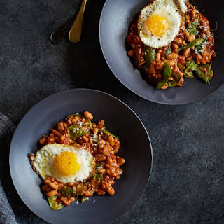 Slow Cooker Cannellini, Farro, and Spinach Stew.
