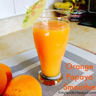 Orange Papaya Smoothie.