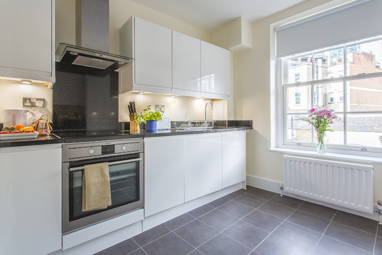 Fully equipped kitchen at Artillery Lane in Liverpool Street