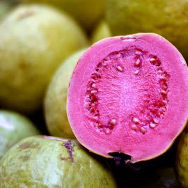 Gauva : Fruit. by Vinod Rajan - Food & Drink Fruits & Vegetables ( pink, cut, fruits, fruit, fruits and vegetables,  )