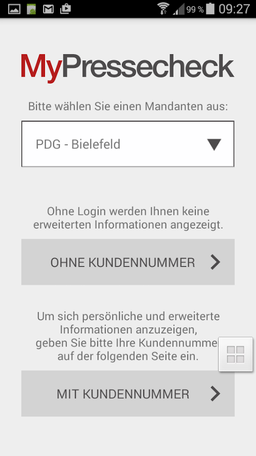 MyPressecheck- screenshot