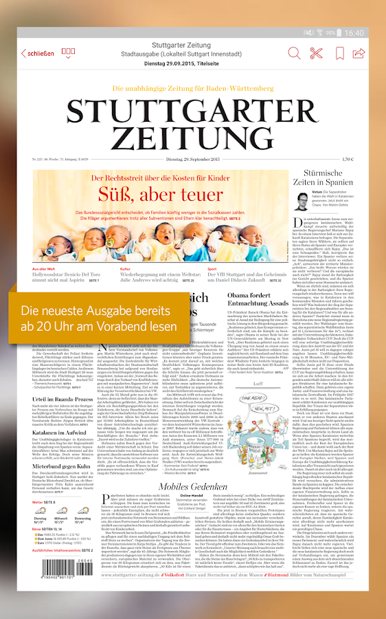 stuttgarter zeitung epaper android apps on google play. Black Bedroom Furniture Sets. Home Design Ideas