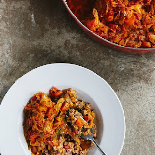 Deep-Dish Cabbage and Farro Casserole