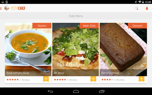 App PetitChef, cooking and recipes APK for Windows Phone