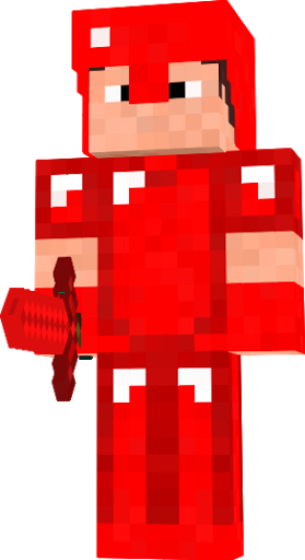 a player in a redstone armor