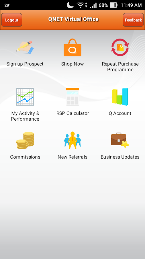 QNET Mobile- screenshot