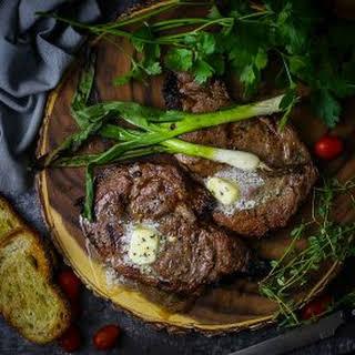 Grilled Ribeye Steaks.