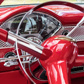 57 Chevy by Don Young - Transportation Automobiles ( chevy, red, chevy bel air, classic, custom, classic car,  )