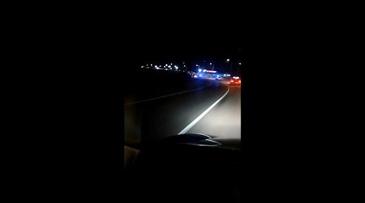 Un vehículo choca contra un coche patrulla y se da a la fuga en Antas