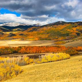 Kenosha Pass by Jason Kiefer - Landscapes Mountains & Hills ( autum, mountain, kenosha pass, fall, aspens )