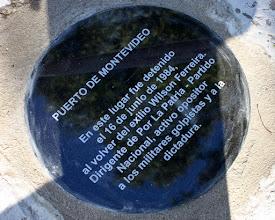 Photo: Marcas de la Memoria (22) Detención de Wilson Ferreira, en el puerto de Montevideo, 16/07/1984. Rambla 25 de Agosto y Pérez Castellano. Placa conmemorativa.