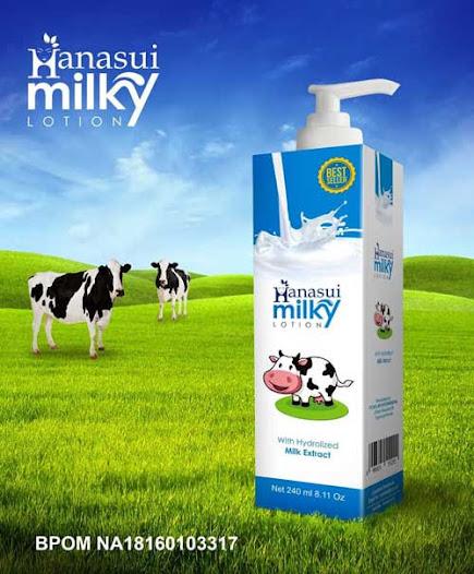 hanasui milky - Handbody Untuk Kulit Sensitif