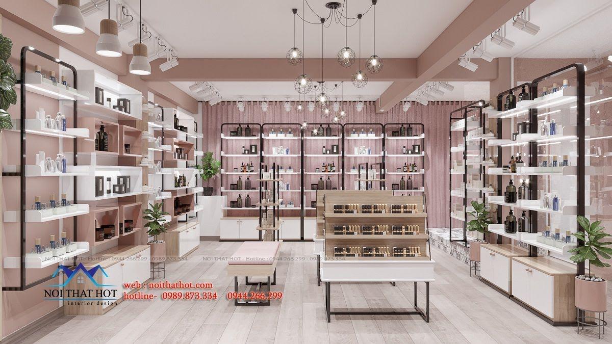 bái trí nội thất shop bán hàng online