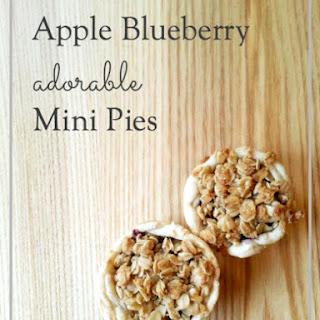 Apple Blueberry Adorable Mini Pies