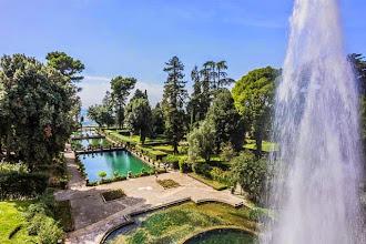 Photo: Views of the Fishing Ponds from the top of Fontana di Nettuno in Villa d'Este in Tivoli, Lazio, Italy