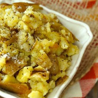Rustic Garlic Confit Mashed Potato.