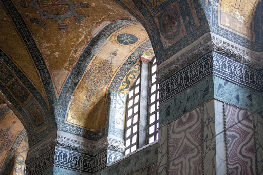 Inside-Hagia-Sophia-14.jpg - Hagia Sophia was dedicated as a Greek Orthodox church by the emperor Justinian in 537 A.D.