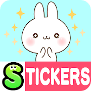 Namaiki-rabbit Stickers Free