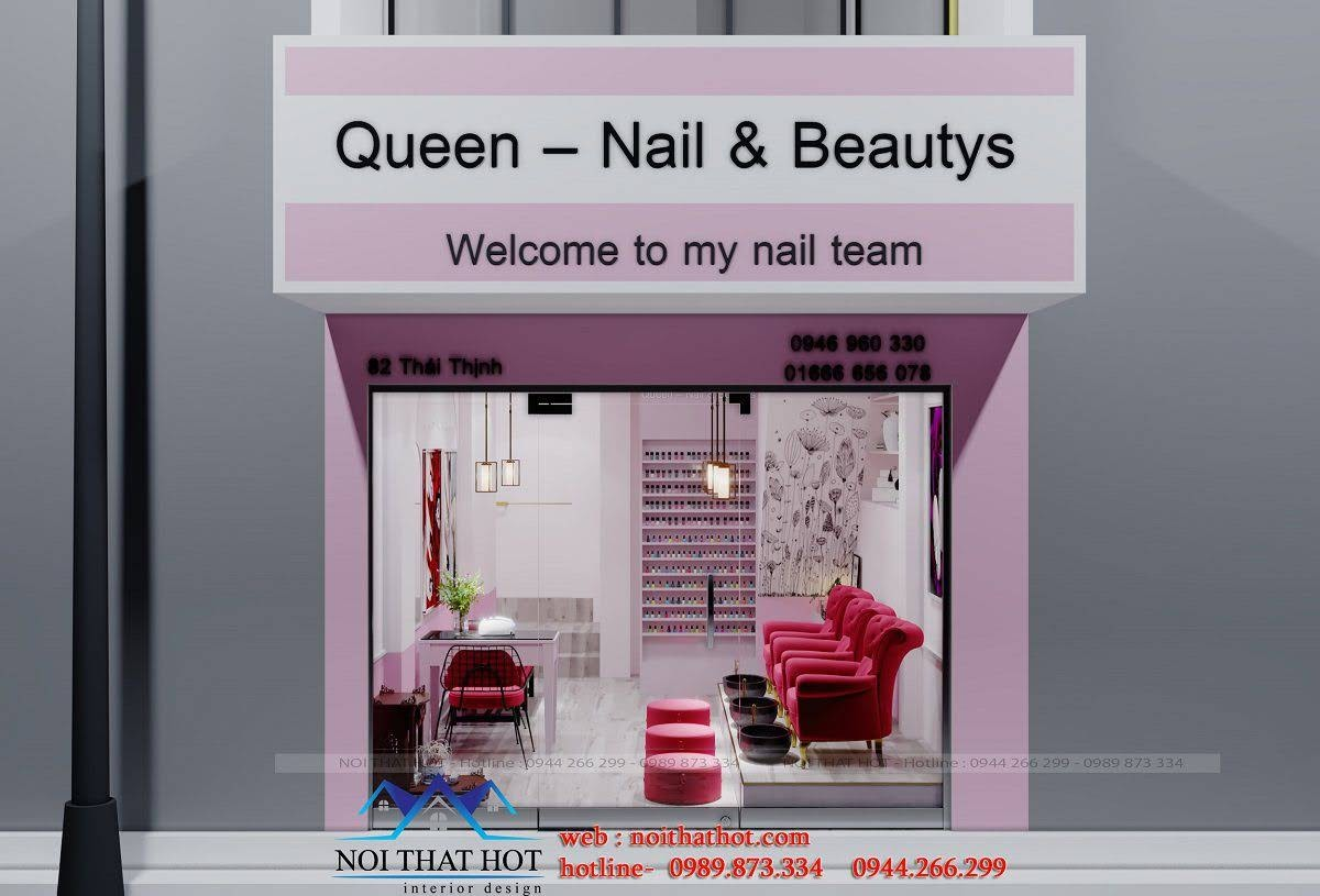 thiết kế shop nail đẹp